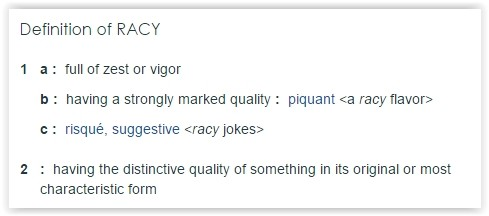 racy definition